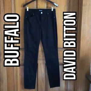 Buffalo David Bitton Black Hope Skinny Jeans Sz 8